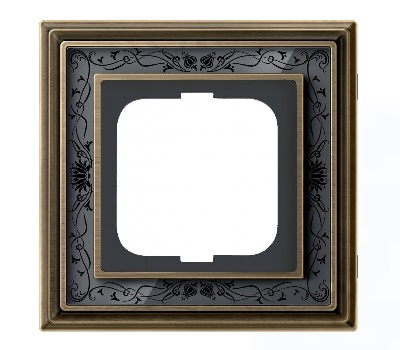 Латунь античная/черная роспись (металл/стекло)